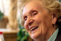 babcia się śmiać Obraz Stock