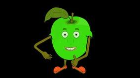 Babcia Smith Apple ono przedstawia Przejrzysty, alfo/ royalty ilustracja