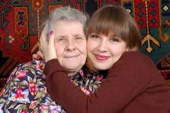 babcia wnuczki zdjęcie stock