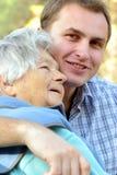 babcia wnuk zdjęcie royalty free