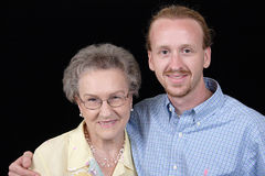 babcia wnuk ona Obraz Stock