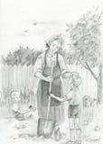 babcia wnuki Zdjęcia Stock