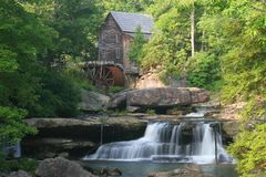 Babcock Grist Mill. Old grist mill at Babcock State Park in West Virginia Royalty Free Stock Photography