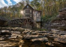 Babcock grist mill in West Virginia Royalty Free Stock Photography