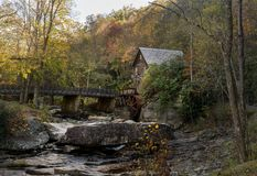 Babcock grist mill in West Virginia Stock Photo