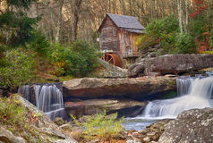 Babcock Mill in Autumn Royalty Free Stock Photo