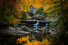 Babcock Mill on a perfect autumn morning Royalty Free Stock Image
