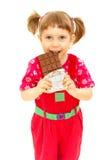 babe η σοκολάτα τρώει στοκ εικόνες με δικαίωμα ελεύθερης χρήσης