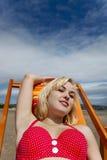 babe παραλία Στοκ φωτογραφία με δικαίωμα ελεύθερης χρήσης