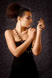 Babe with beads Stock Images
