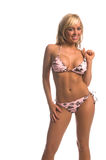 babe bikini blond surf Fotografia Stock