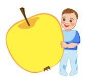 Babe eats an apple Stock Photo