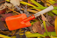 Babe garden spade Stock Photography