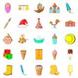 Babe icons set, cartoon style. Babe icons set. Cartoon set of 25 babe vector icons for web isolated on white background Royalty Free Stock Photo