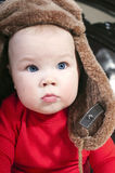 Babe In The Winter Fur Hat Stock Photo