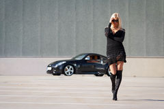 Babe near super car Stock Image