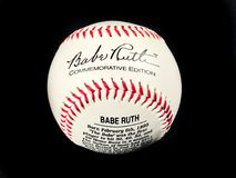 Babe Ruth Commemorative 100th Birthday Autographed ball.  stock photos