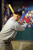 Babe Ruth in Madame Tussauds of New York. New York, USA - April 30, 2018: Babe Ruth in Madame Tussauds of New York royalty free stock photos