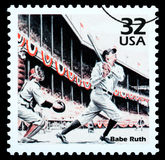 Babe Ruth Postage Stamp Imagen de archivo libre de regalías
