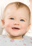 The babe smiles Royalty Free Stock Image