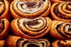 babeczek ziarna karmowi krajowi makowi rosyjscy Rosyjski krajowy jedzenie Obraz Stock