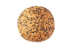 Babeczka dla hamburgerów na bielu Obrazy Stock