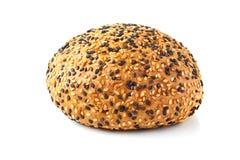 Babeczka dla hamburgerów na bielu Zdjęcia Stock