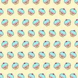 Babeczka - emoji wzór 49 royalty ilustracja