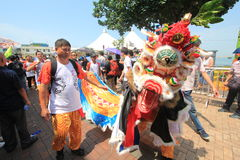 Babeczka festiwal w Cheung Chau, Hong Kong 2015 Obrazy Stock