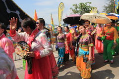 Babeczka festiwal w Cheung Chau, Hong Kong 2015 Obraz Royalty Free