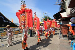 Babeczka festiwal w Cheung Chau, Hong Kong 2015 Fotografia Royalty Free