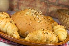 Babeczka z chlebowych rolek zbliżeniem Zdjęcia Royalty Free