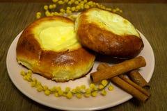 babeczka z serowym jedzeniem Zdjęcie Stock