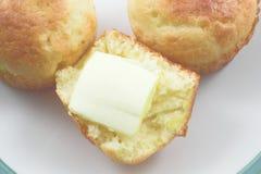 babeczki chleb kukurydziany Zdjęcia Stock