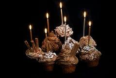 babeczki czekoladę Obrazy Stock