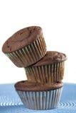 babeczki czekoladowa sterta zdjęcia stock