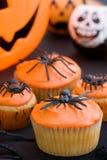babeczki Halloween Zdjęcia Stock
