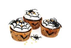 babeczki Halloween zdjęcia royalty free