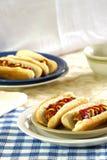 babeczki hotdogi Obraz Royalty Free
