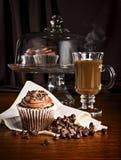Babeczki i kawa Obrazy Royalty Free