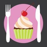 Babeczki kawiarni logo Fotografia Stock
