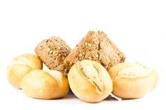 Babeczki odizolowywać na białego tła jedzenia chlebowych rolkach Obraz Royalty Free