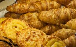 babeczki sera croissants Obrazy Royalty Free