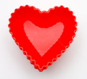 babeczki serca liniowowie Obraz Stock