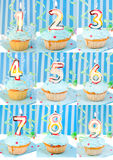babeczki urodzinowa liczba Obrazy Royalty Free