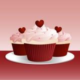 babeczki valentine Obraz Stock