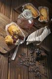 Babeczki z czekoladowymi kroplami Obraz Stock
