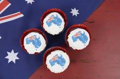 Babeczki z mapami Australia Fotografia Royalty Free