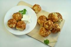 Babeczki z serowym cookery fotografia stock