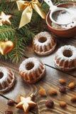 Babeczki z sproszkowanym cukierem Zdjęcie Royalty Free